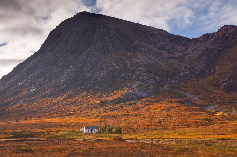 Cottage im Tal von Glen Coe