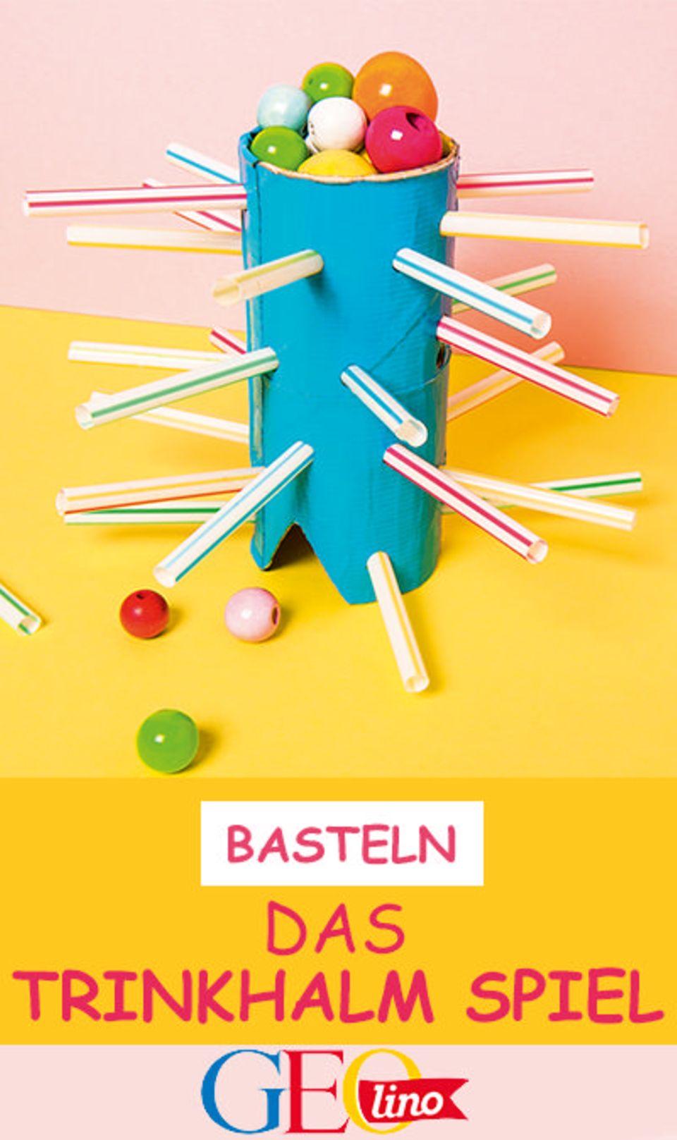 Basteln: Das Trinkhalm-Spiel
