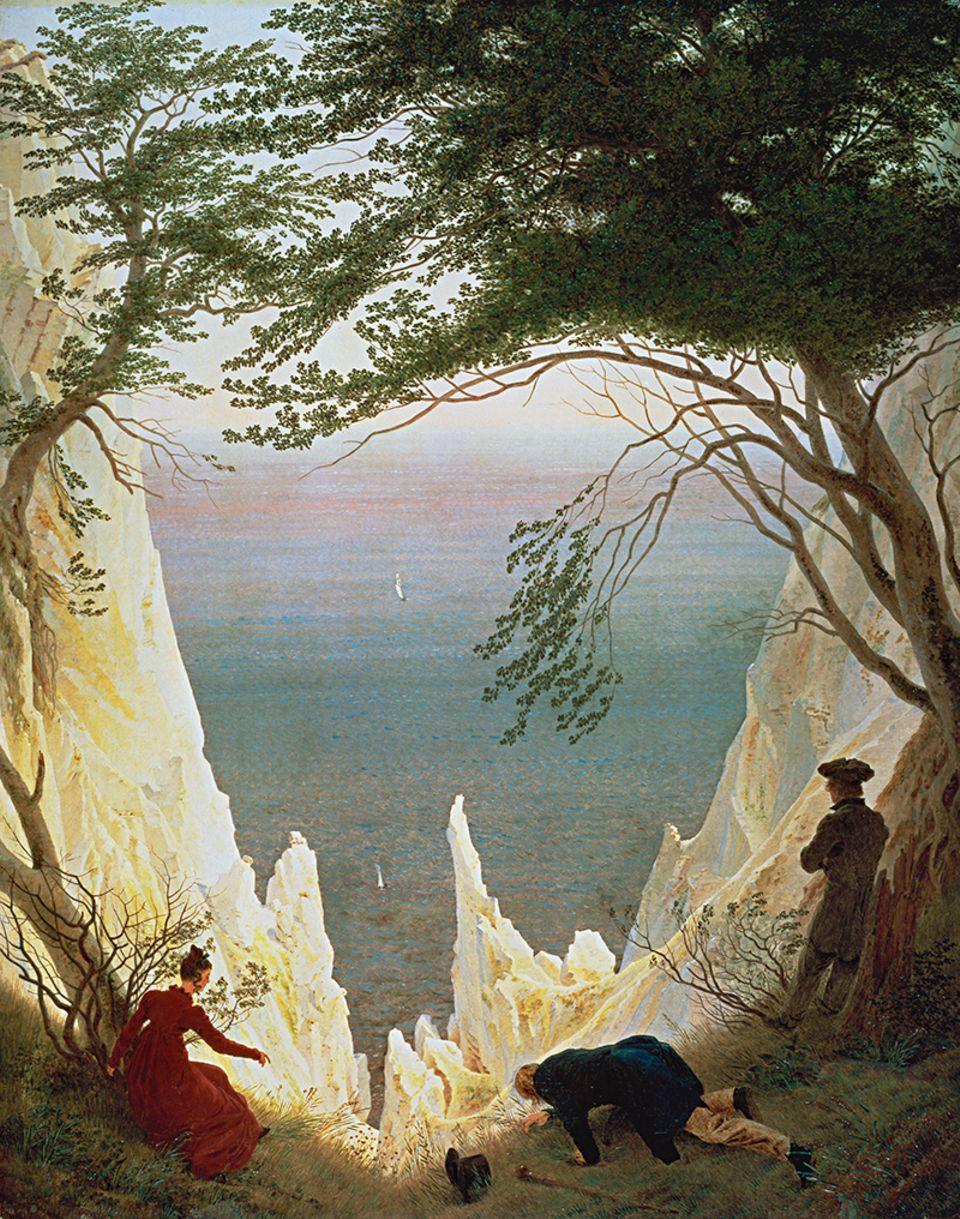 "Caspar David Friedrich ""Kreidefelsen auf Rügen"""