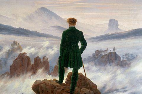 "Caspar David Friedrich ""Wanderer über dem Nebelmeer"""