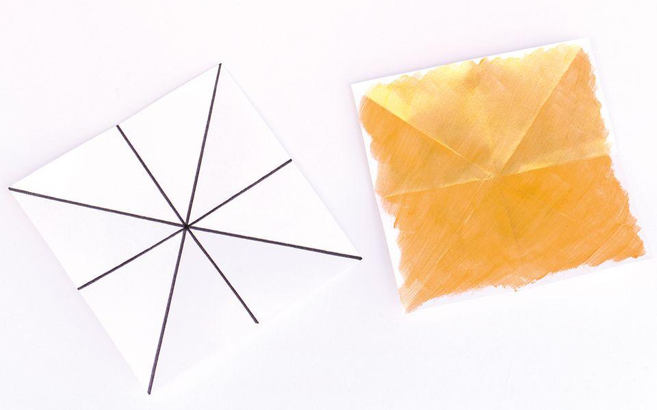 Papier für den Weihnachtsstern falten