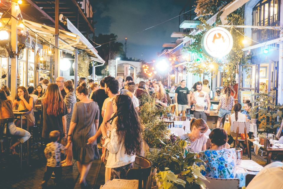 Jaffa, Nachtleben, Tel Aviv