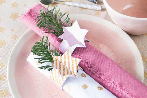 Serviettenringe zu Weihnachten