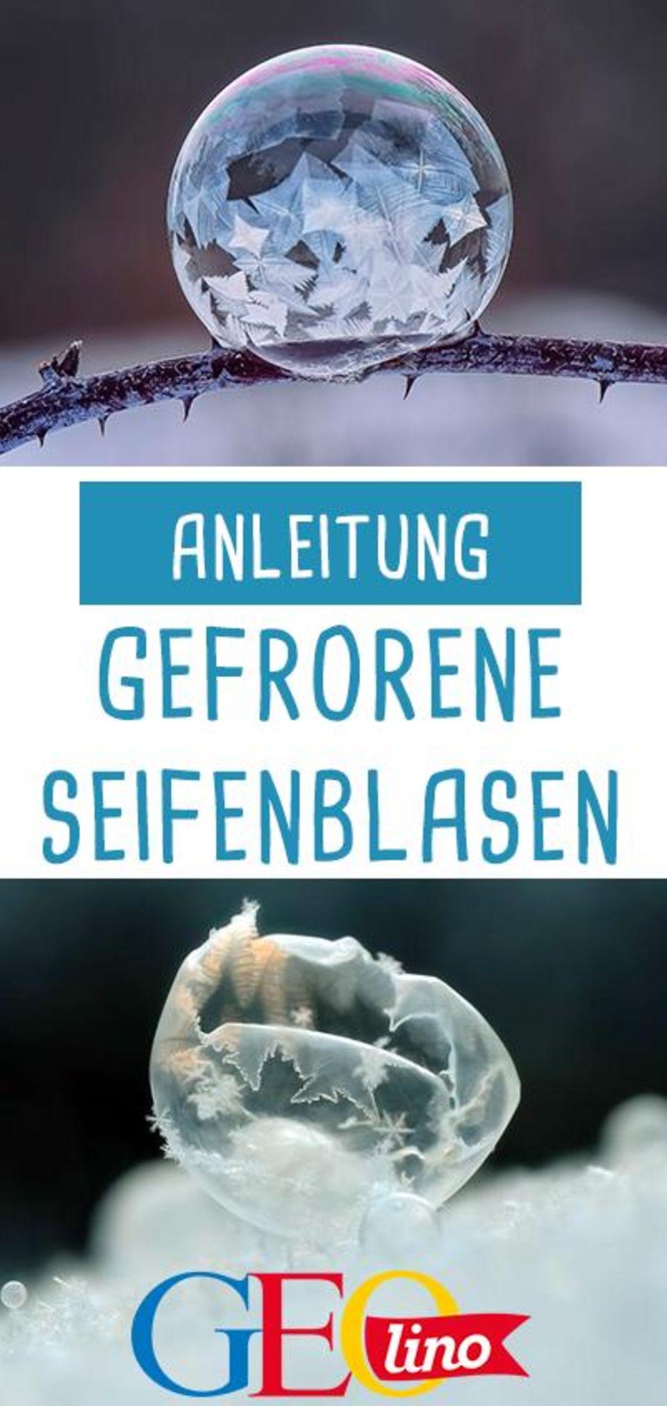 Winter: Seifenblasen gefrieren lassen