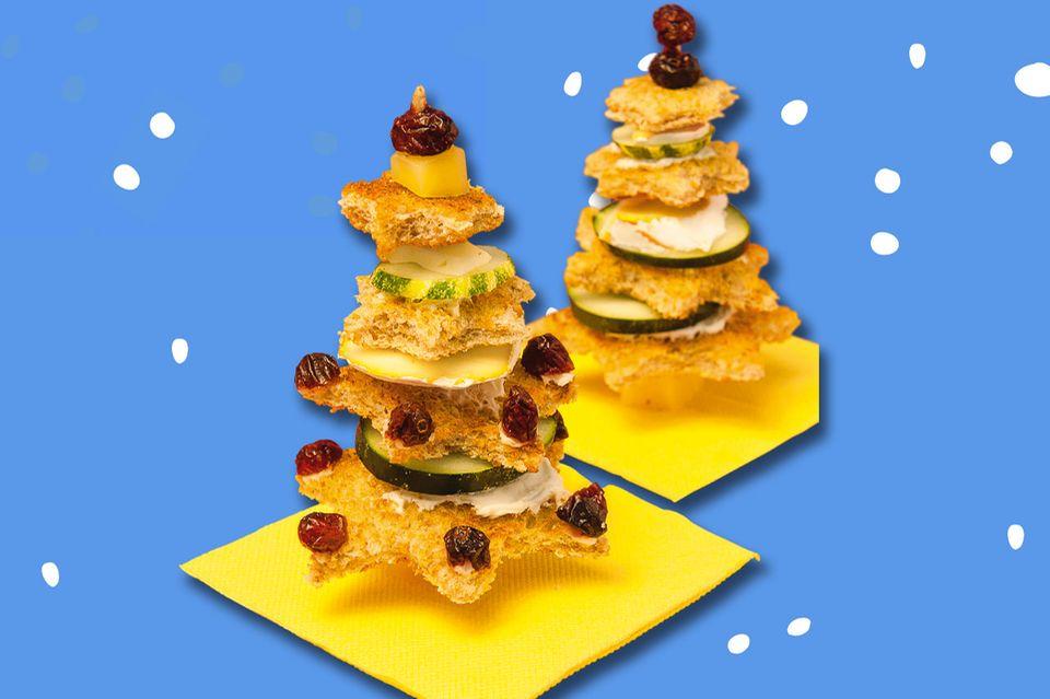 Weihnachtsessen: Gesunde Brotbäume