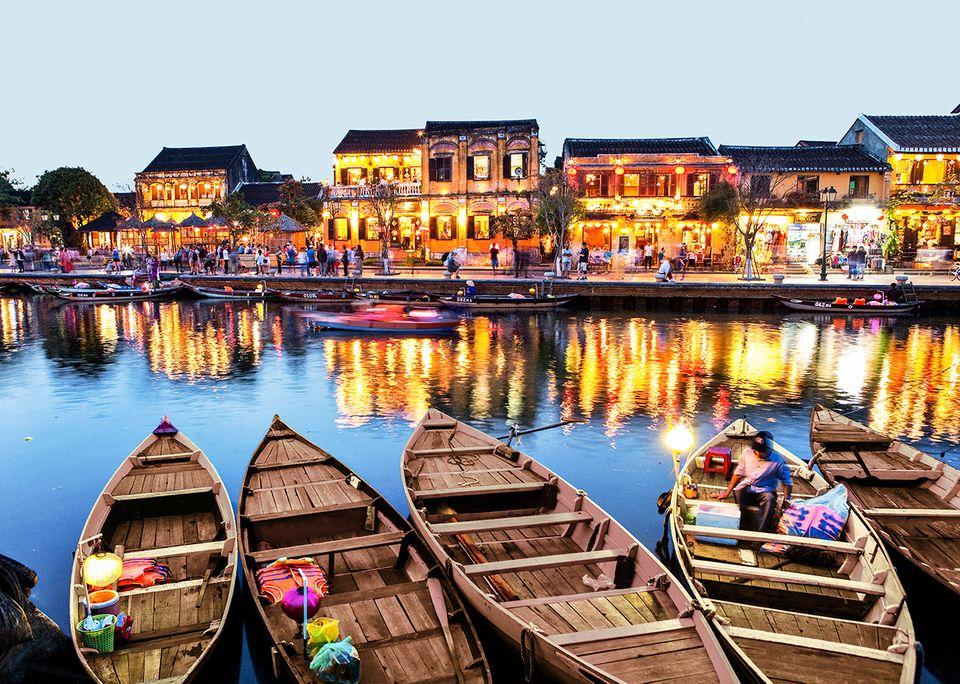 Abendstimmung in Hoi An, Vietnam
