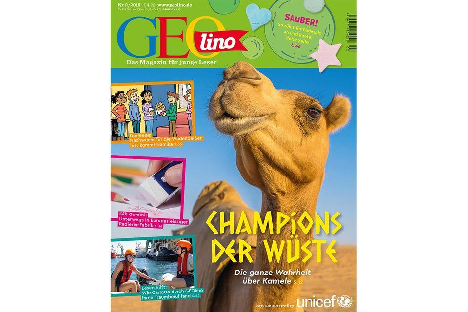 Nr. 02/2019: GEOlino Nr. 02/2019 - Champions der Wüste