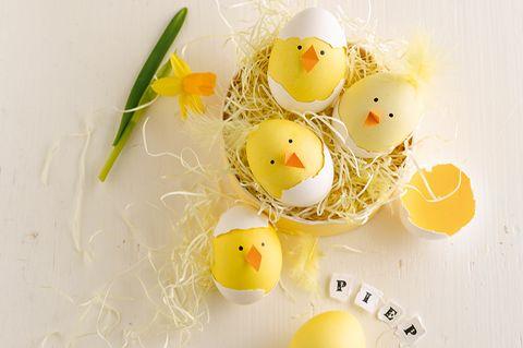 Küken basteln zu Ostern