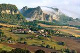 Landschaft in der Nähe von San Leo, Emilia Romagna