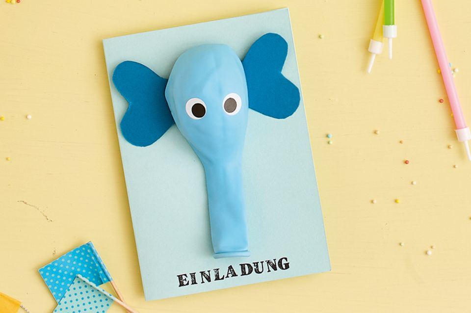 Elefanten-Einladungskarte
