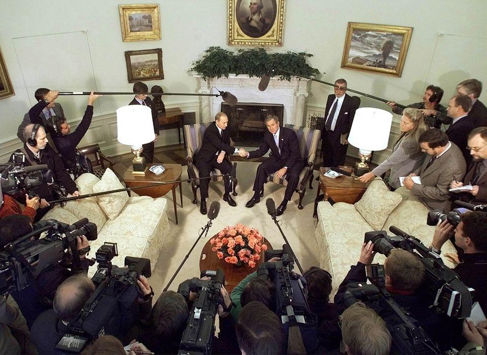 Wladimir Putin und George W. Bush