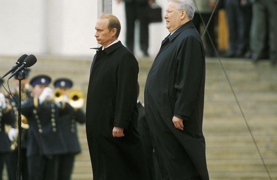 Wladimir Putin und Boris Jelzin