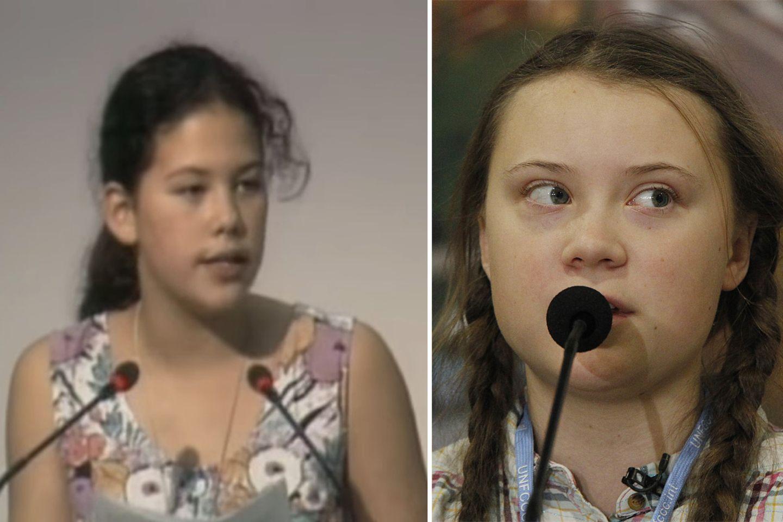 Severn Suzuki und Greta Thunberg