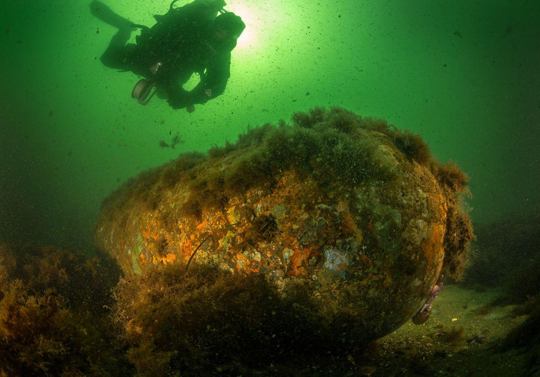 Seemine in der Ostsee aus dem Zweiten Weltkrieg