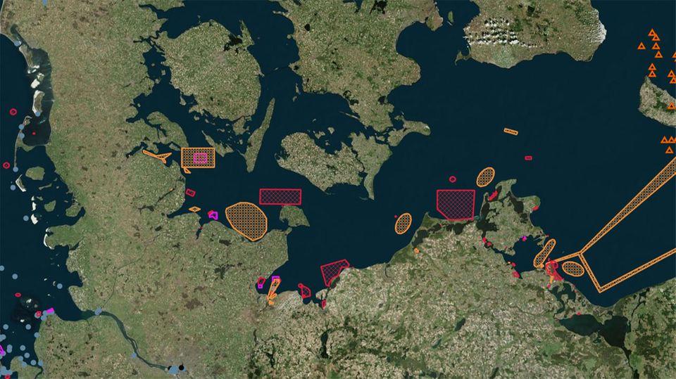 Karte: Munition in Nord- und Ostsee