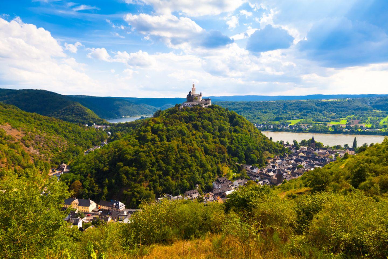 Braubach am Rhein mit der Marksburg