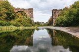 Die Reste der eingestürzten Hympendahlbrücke, Dortmund