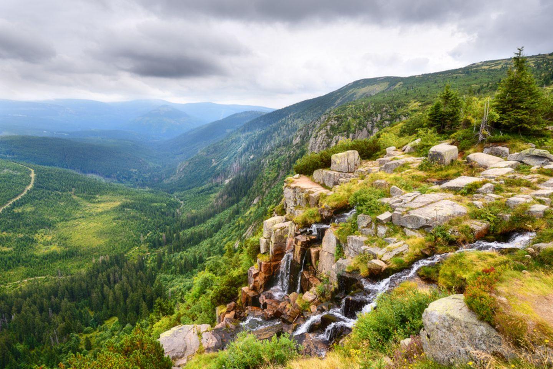 Pancava-Wasserfall in Ost-Böhmen
