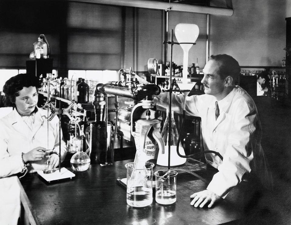 George Hitchings und Gertrude Elion
