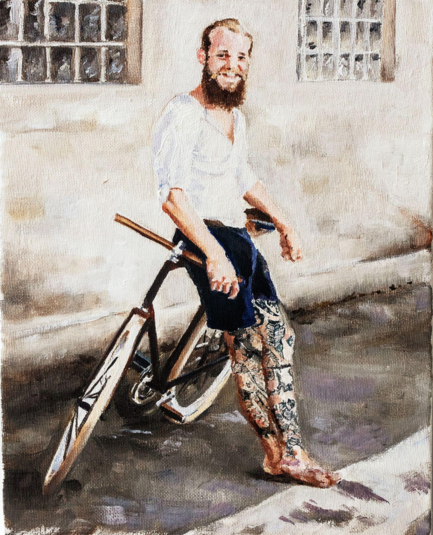 Biker in Öl