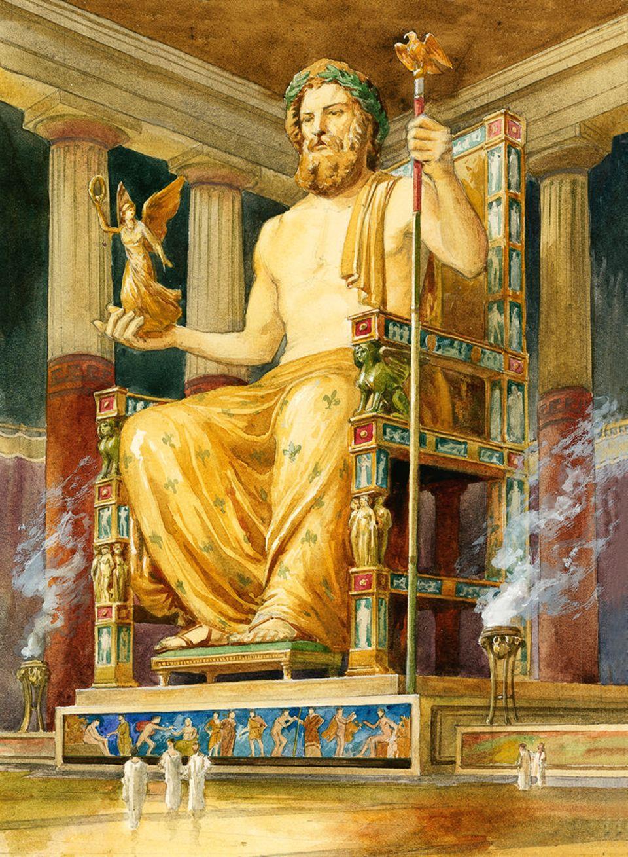 Zeusstatue zu Olympia