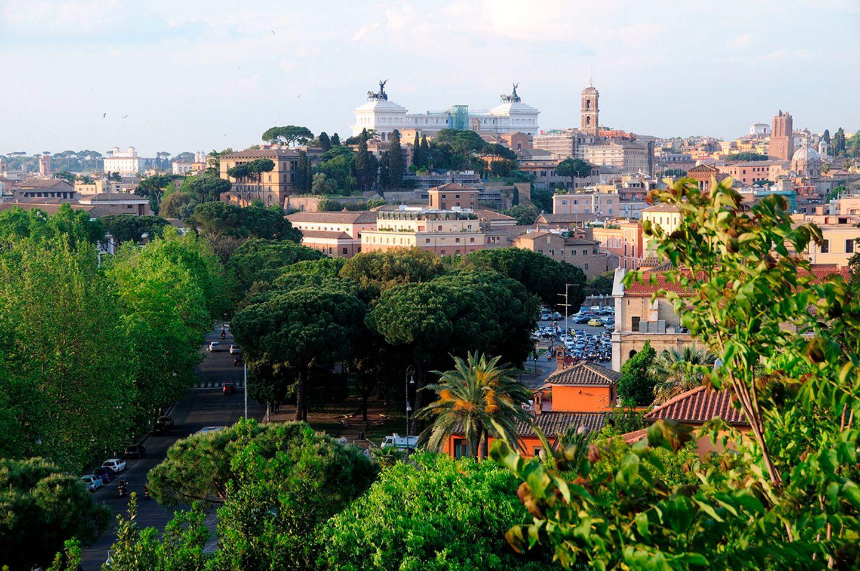 Blick auf Rom vom Aventin Hügel