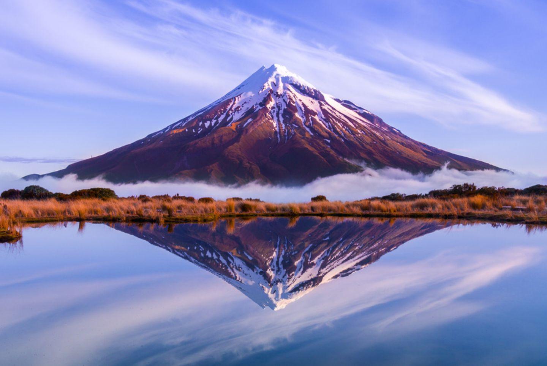 Mount Taranaki in Neuseeland