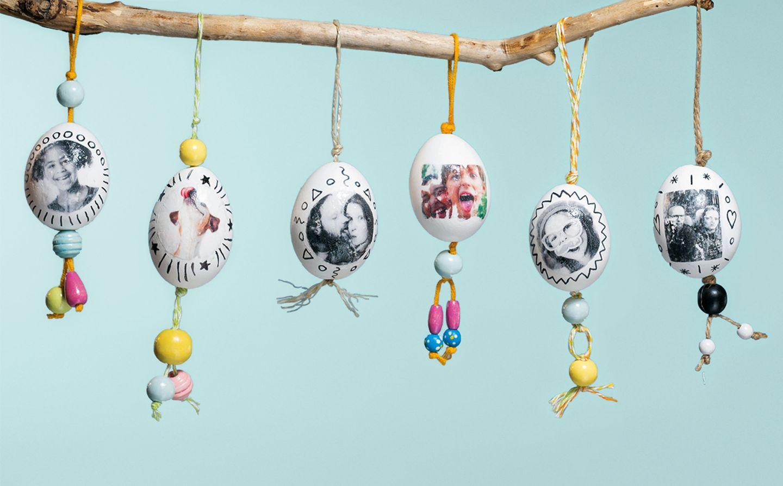 Ostereier mit Fotomotiven