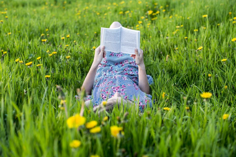 Lesen im Frühling