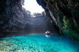Melissani Höhle, Kreta, Griechenland