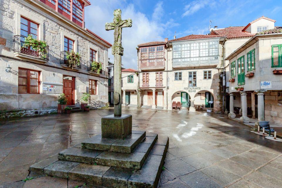 Praza da Lena in Pontevedra in Galicien