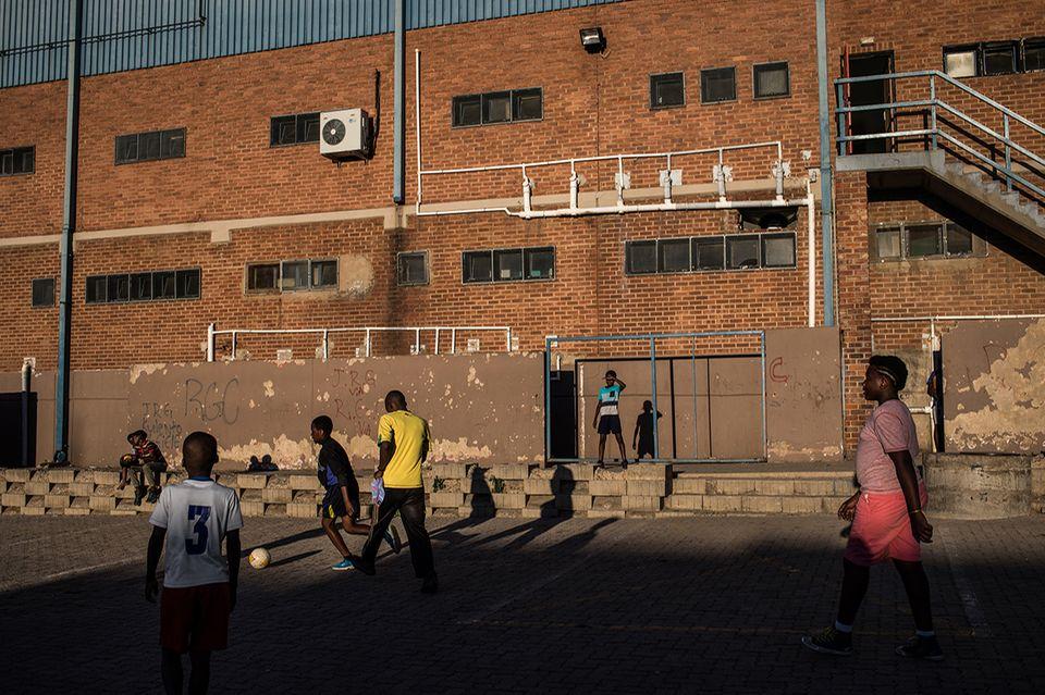 Spielfeld in Alexandra, Johannesburg