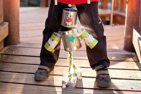 Roboter aus Konservendosen