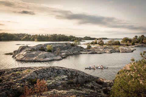 Paddeln in Schweden
