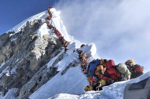 Schlange, Mount Everest