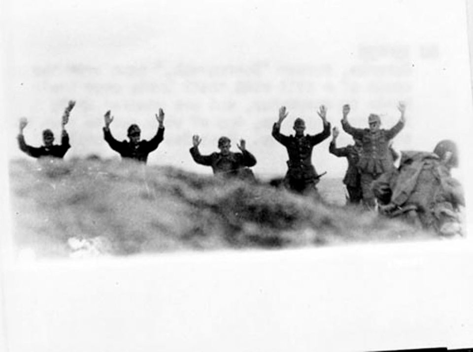 D-Day, überwältigte deutsche Soldaten
