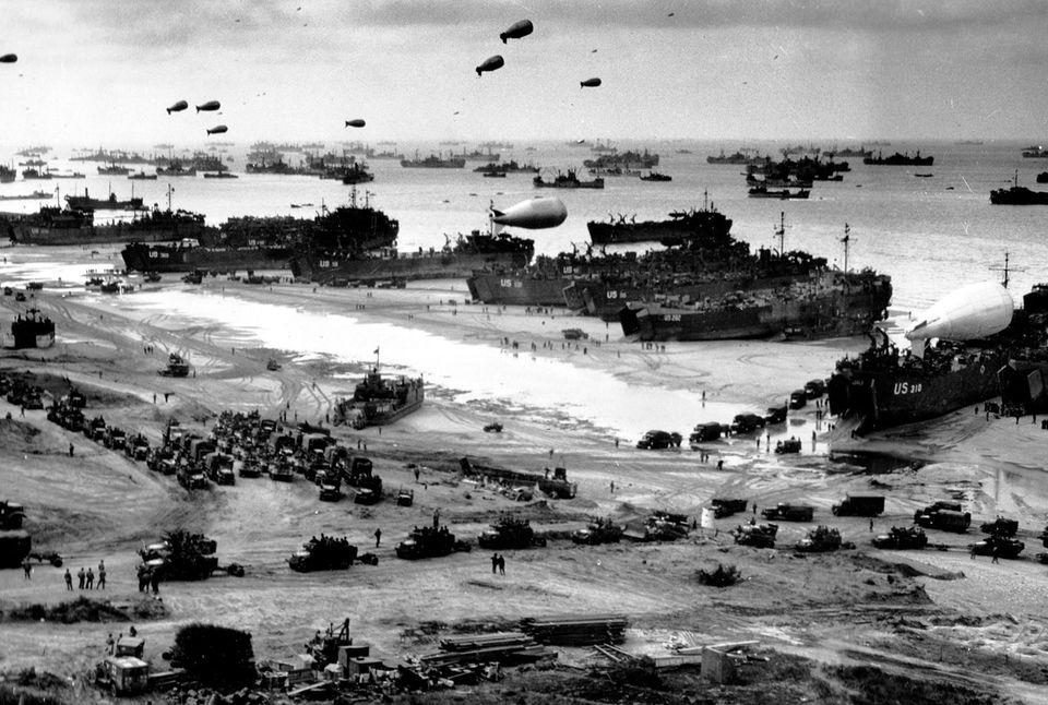 Landung der Schiffe, D-Day, 1944