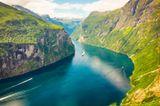 Fjord Geirangerfjord , Norwegen