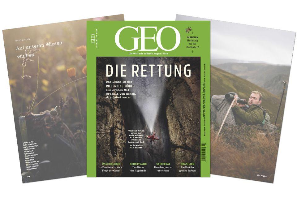 Genforschung: Das Drama in der Riesending-Höhle zum ersten Mal erzählt von denen, die dabei waren - das Heft im GEO-Shop bestellen