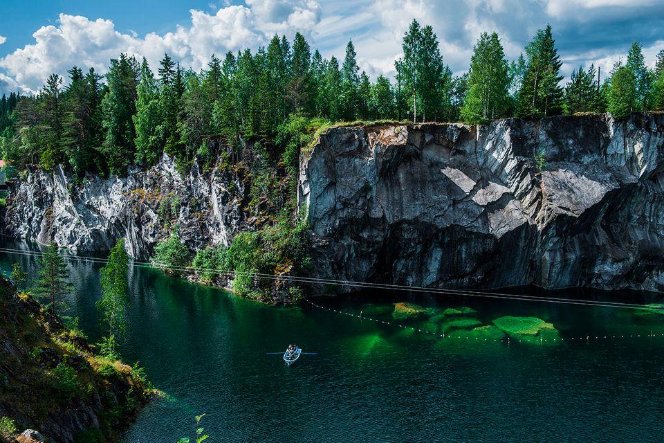 Ruskeala Mountain Park, Russland