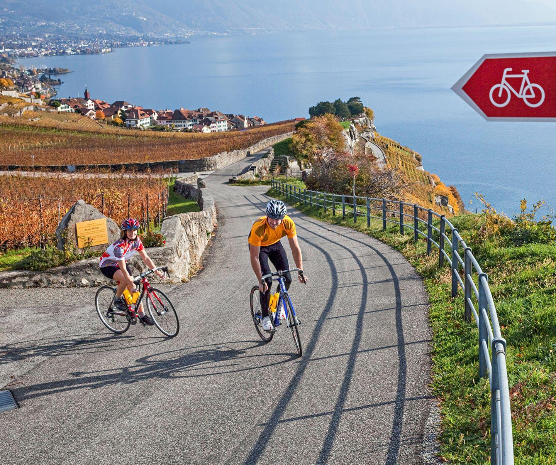 Radeln am Genfer See