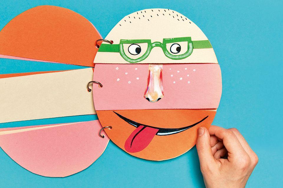 Gesichter basteln - Ringbuch
