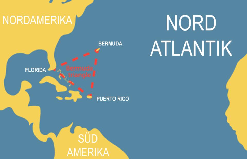 Bermuda-Dreieck auf der Karte
