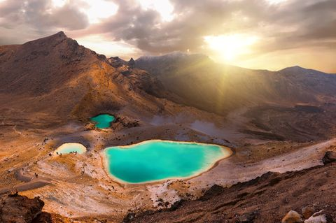 Emerald Lakes, Tongariro National Park, Neuseeland