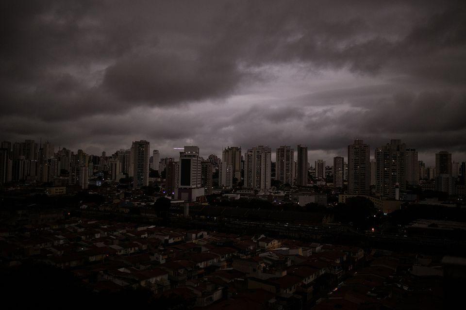 Sao Paulo während des Waldbrands im Amazonas
