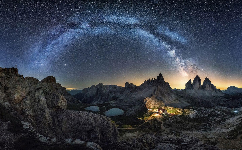 Milchstraße über den drei Zinnen