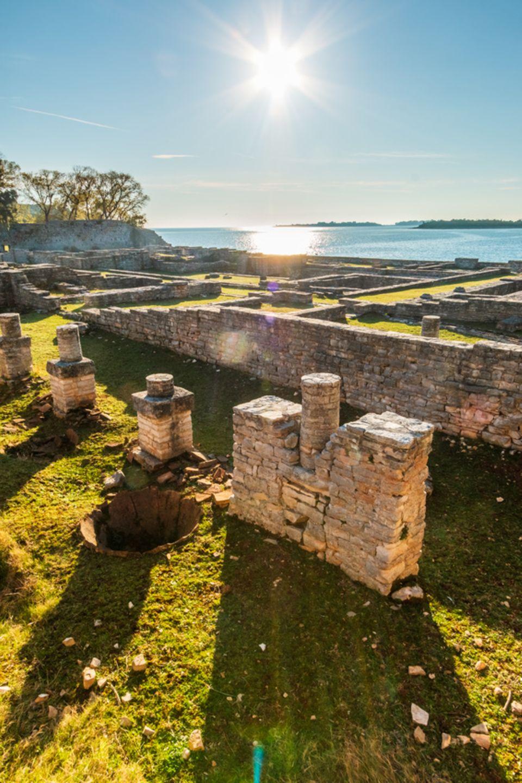 Überbleibsel der römischen Zeit auf Veli Brijun