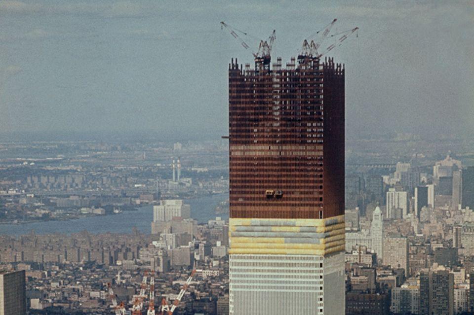 Bau der World Trade Centers
