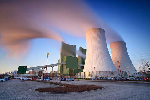 Sachsen-Anhalt, Skopau, Braunkohlekraftwerk