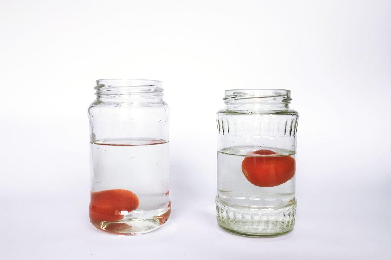 Die schwimmende Tomate
